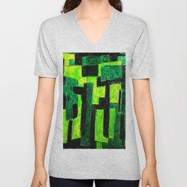 Three Green Puzzle Unisex V-Neck