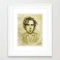 tim burton Framed Art Prints featuring Tim Burton by Renato Cunha