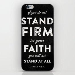 Isaiah 7:9b iPhone Skin