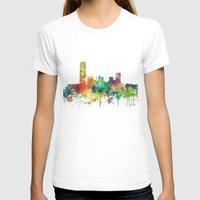 oklahoma T-shirts featuring Oklahoma City, Oklahoma skyline SP by Marlene Watson
