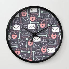 Key to my Heart Wall Clock