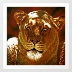 Red Lion Art Print