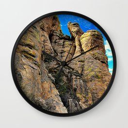Mountain and sky in Mexico. Wall Clock