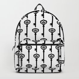 Old Black Brass Keys Pattern Backpack