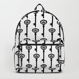 Old Black Brass Keys Pattern Backpack