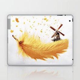 Air Feather • Yellow Feather (horizontal) Laptop & iPad Skin