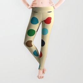 Llacheu - Classic Retro Dots Pattern Leggings