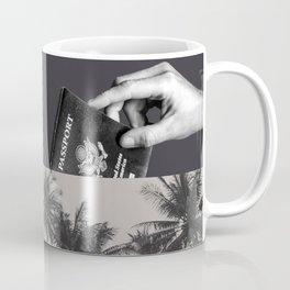 Passport paradise - bw Coffee Mug
