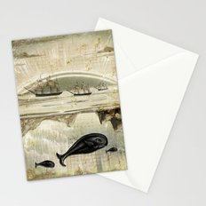 paper II :: whales/ships Stationery Cards