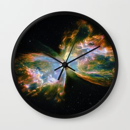 Butterfly Nebula Wall Clock