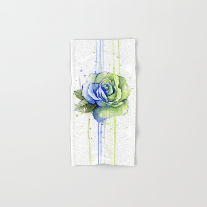 Flower Rose Watercolor Painting 12th Man Art Hand & Bath Towel
