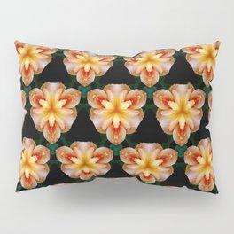 Fiery Day Lily Pattern Pillow Sham