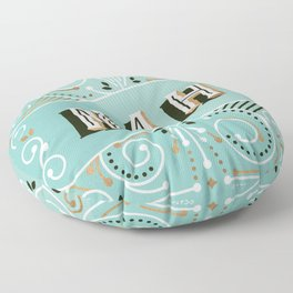 Nah – Mint & Rose Gold Palette Floor Pillow