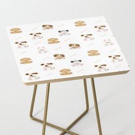 Puppy Dog Baby Nursery Wall Art Side Table