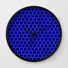 blue beehive Wall Clock