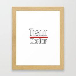 Team MerDer. Greys Anatomy Framed Art Print