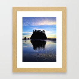 sea stack Framed Art Print