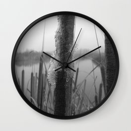 Water fog and frost Wall Clock