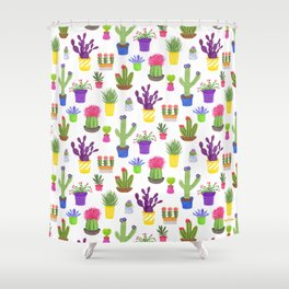 The Potted Cactus Shower Curtain