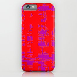 jitter, red violet, 3 iPhone Case