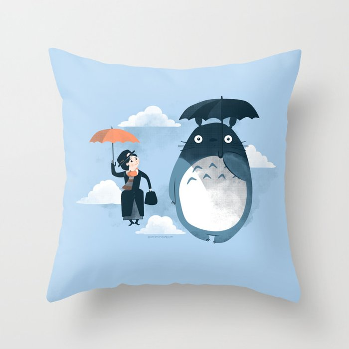 The Perfect Neighbor Throw Pillow