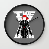 black widow Wall Clocks featuring black widow by Rebecca McGoran