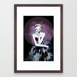 Watercolour Fashion Illustration Portrait Young & Beautiful - Dark Framed Art Print