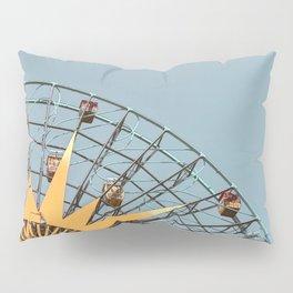 Ferris Wheel and Dusty Blue Sky Pillow Sham