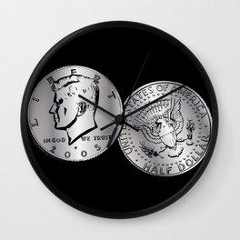 US Half Dollar Coin Wall Clock