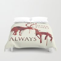 snape Duvet Covers featuring Always by Rose's Creation