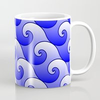 surf Mugs featuring Surf by Warwick Wonder Works