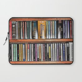 CD's on a Shelf Laptop Sleeve