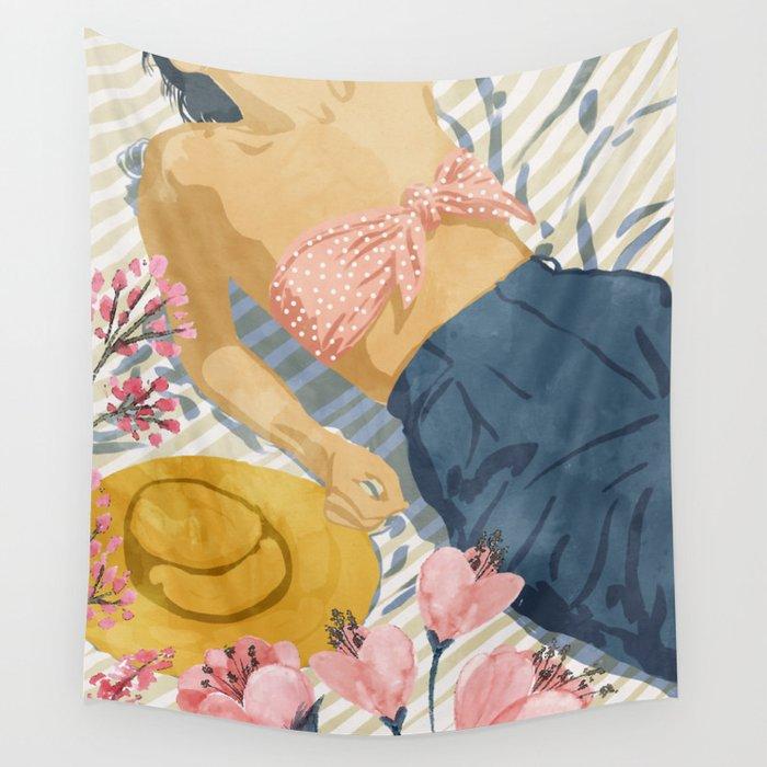 Beach Vacay #society6 #travel #illustration Wall Tapestry