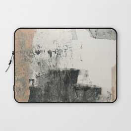 Peace and Quiet [1]: a pretty, minimal abstract piece in gray and peach by Alyssa Hamilton Art Laptop Sleeve
