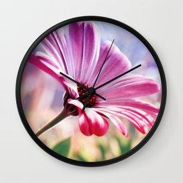 Flower pink 106 Wall Clock