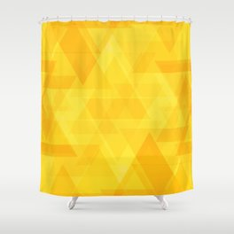 Bright yellow triangles in intersection and overlay. Shower Curtain