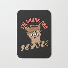Funny Drunk Animal Lama Beer Bath Mat