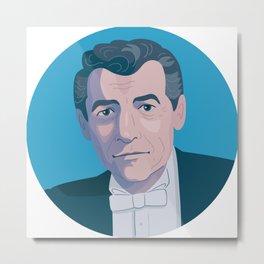 Queer Portrait - Leonard Bernstein Metal Print