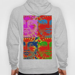 Four Faces of the sun ( psychedelic ) Hoody