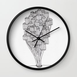 The Wilted Daisies Wall Clock