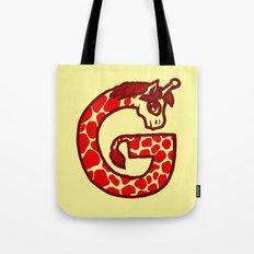 G is for Giraffe Tote Bag