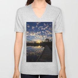 Sunrise Clouds Unisex V-Neck