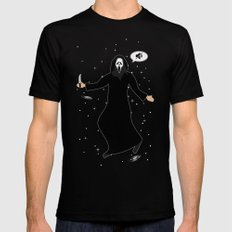 In space no one can hear you, scream Black MEDIUM Mens Fitted Tee