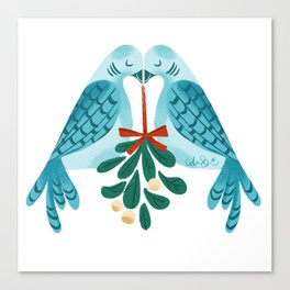 12 Days of Christmas: 2 Turtle Doves Canvas Print