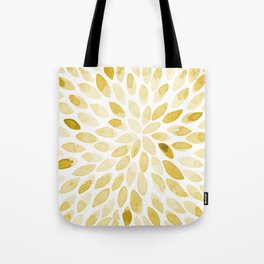 Watercolor brush strokes - yellow Tote Bag