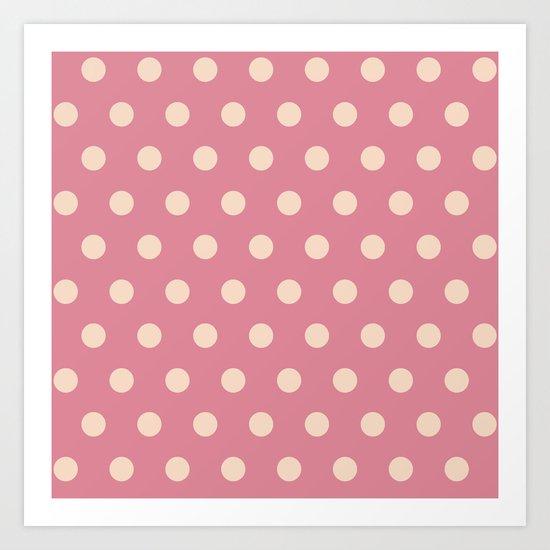 Pink Polka Dot Art Print