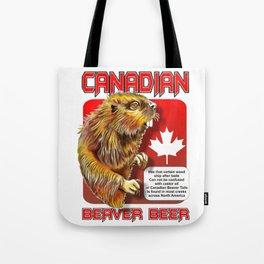 Canadian Beaver Beer Tote Bag