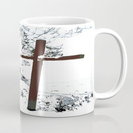 Cross in the Snow Coffee Mug