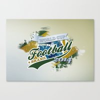 football Canvas Prints featuring Football  by ArtAngelo