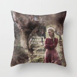 She Saw Throw Pillow